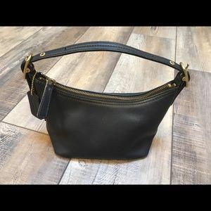Coach black leather small hobo purse